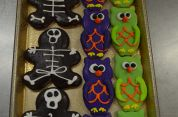 Skeleton & Owl Cookie