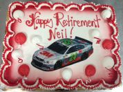 Edible Image Retirement Cake