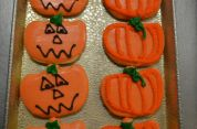 Pumpkin Face & Outline Pumpkin Cookie